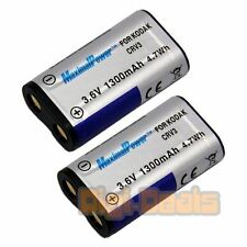 BATTERY x 2 for Kodak Nikon Casio Olympus CR-V3 CRV3 LB01 LB-01 TWO BATTERIES