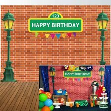 Sesame Street Brick Wall Kids Birthday Party Background Baby Shower Photo Decor