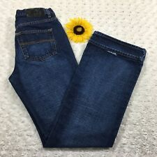 Express Womens Extreme Flare Jeans Size 9/10R 100% Cotton Blue Denim gr1249