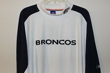 Mens 4XL XXXXL Denver Broncos Long Sleeve Shirt Reebok White Football