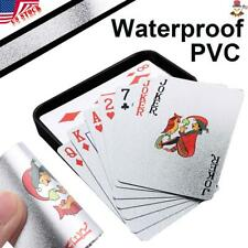 Creative Waterproof Silver Plastic PVC Poker Magic Table Board Game Playing Card
