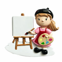 GIRL ARTIST Personalized Christmas Tree Ornament