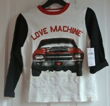 New  Gap 100% cotton long sleeve White/Red/Black Top age 5 years
