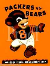 Chicago Bears Green Bay Packers Game Program Poster Vintage Football Wrigley