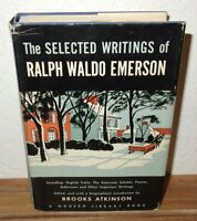 The Selected Writings of Ralph Waldo Emerson book by The Modern Library 1950