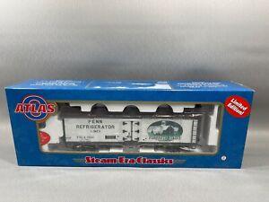 Atlas 9091-2 O 40' Wood Reefer Car Flaharty Dairy #3649 (2 Rail) w/ Box