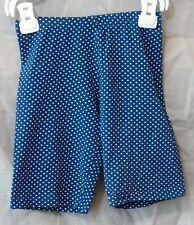 Girls Matalan Dark Blue White Polka Spot Stretchy Summer Shorts Age 8-9 Years