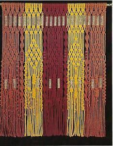 Vintage 600ms Multicolor Macramé Cortina Patrón Nuevo Manualidades Libro HP450