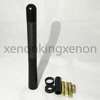 """JDM Style Short Silver 5/"""" in//127 mm Carbon Fiber Screw Type Antenna #s8 Vehicles"""