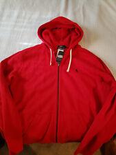 Polo Ralph Lauren Men's Full Zip Hooded Sweatshirt - Red Size XL NWT