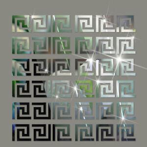 3D Mirror Wall Stickers Acrylic Mural Wall Decals Modern DIY Home Decor 10 pcs