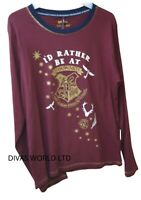 Harry Potter Hogwarts T-shirt Top Burgundy Colour Womens Ladies T-shirt