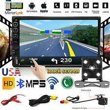 """Car Stereo Radio 2 DIN 7"""" MP5 Mirrorlink Wifi For Android IOS GPS Player Camera"""