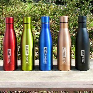 Personalised Copper Insulated Water Bottle 500ml Kids School Metal Teacher Gift