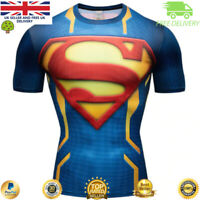Compression gym top superhero avengers marvel muscle Superman BJJ MMA Crossfit
