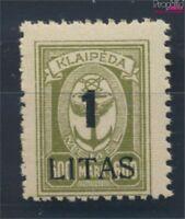 Memelgebiet 201 postfrisch 1923 Aushilfsausgabe (8731663