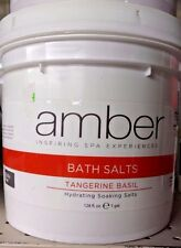 AMBER SPA PRODUCTS Hydrating Bath Salts TANGERINE BASIL Foot Soak 1 Gal / 128oz!