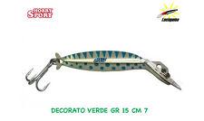 LUCIAPUMA ARTIFICIALE TROTA CM  7 DEC VERDE  GR 15  1 ANCORETTA