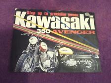 1969 Kawasaki 350 Avenger (model's A7 & A7SS)  sales brochure (Reprint) $9.00