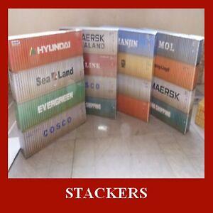 Maersk, Hanjin, MOL, Hapag Shipping Containers Model Card Kit OO 1:76 Gauge x 4