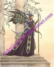 Amy Brown Print Fairy Battle Dress Sword Fantasy Armour Faery Art Room Decor