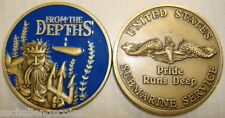 From the Depths Submarine Service Challenge Commemorative Coin USN King Neptune