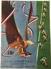 1938 S.F.J.C. vs Pasadena J.C. College Football Game Jackie Robinson
