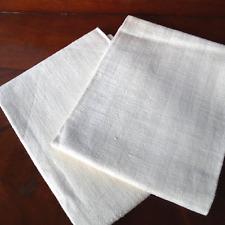 Antike Bauern Leinen 2x Handtücher Geschirrtücher Streifen Linen Towels ca 1900