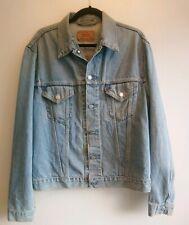 """Men's Vintage Levi's Blue Denim Slim Trucker Jacket 70500 Size XL P2P 22"""" Large"""
