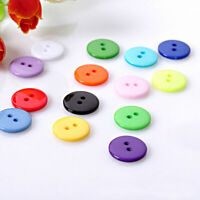100pcs 2 Holes Round Resin Buttons Sewing Scrapbooking New Lots Type Craft I2L7