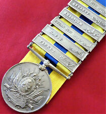 *VINTAGE RARE BRITISH EGYPTIAN ARMY KHEDIVE'S SUDAN MEDAL WITH 6 CAMPAIGN BARS