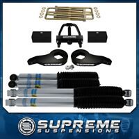 "3"" Front + 3"" Rear Lift Kit + Bilstein + Tool 01-10 GMC Sierra 1500 2500 3500 HD"