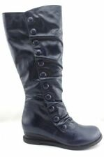 Low (3/4 in. to 1 1/2 in.) Leather Wedge Boots for Women