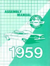 1959 Chevrolet Assembly Manual Book Rebuild Overhaul Instructions Illustrations