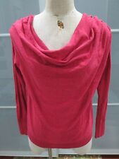 Anthropologie Moth Draping Neckline Long Sleeve Knit Top Size M