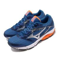 Mizuno Wave Impetus 4 Blue Silver Orange Mens Running Shoes J1GC1613-06