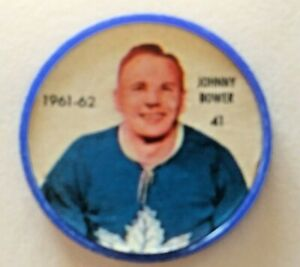 1961-62 Shirriff Coin:#41 Johnny Bower Toronto Maple Leafs Hall of Famer