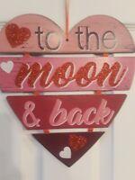Valentine's Day sign decoration door wall Heart Love Glitter Gift