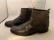 Alfani BRUTE Men's Grey Cap Toe Zip Ankle Boots Size 10 1/2