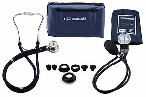 PRIMACARE PROFESSIONAL BLOOD PRESSURE KIT WITH SPRAGUE RAPPAPORT STETHOSCOPE