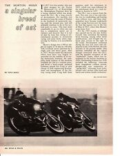 1961-1962 NORTON MANX MOTORCYCLE ~ ORIGINAL 5-PAGE ARTICLE / AD