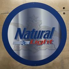 Natural Light 12 Inch Metal Sign