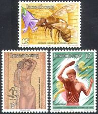 Luxembourg 1986 Bee/Table Tennis/Nude/Art/Insects/Nature/Sports 3v set (n31669)