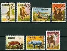 Liberia 1966, African Animal, SC# 451-457, Used CTO 2324