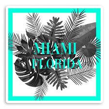 2 x 10cm Miami Florida Vinyl Stickers - USA Fun Tropical Luggage Sticker #34689