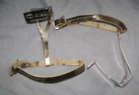 (2) Christophe Straps on ALE Toe Clips Road Bike Touring Racing Vintage Italy