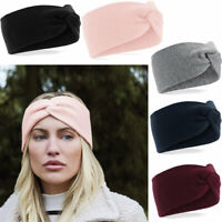 Beechfield Ladies Twist Knit Winter Headband Wrap Head Warmer Hairband Ski Band