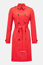 Karen Millen -- Luxe Red Belted Classic Trench Coat - New with tag - Size 14