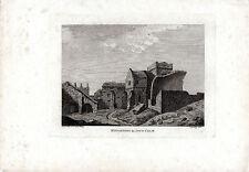 ANTIQUE SCOTTISH Print-Inchcolm Abbey // monastère (2) - Hooper Copperplate (1788)