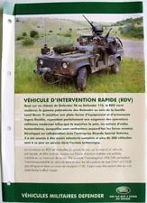 LAND ROVER Defender 90/110 RDV - Car Sales Brochure -#LRML 1775 - French